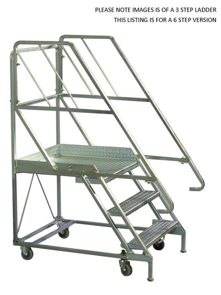 6 Steps Mobile Platform Step Ladders | QualityJack