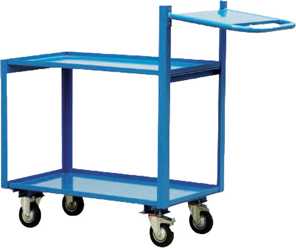 Multi Tier Industrial Platform Trolley With Extended Handle 250Kg | QualityJack