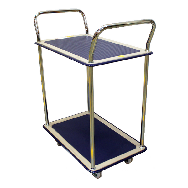 Two Level Platform Industrial Trolley Storage Cart 250Kg | QualityJack