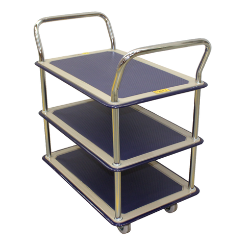 Signature Three Level Industrial Platform Trolley Storage cart 170Kg | QualityJack