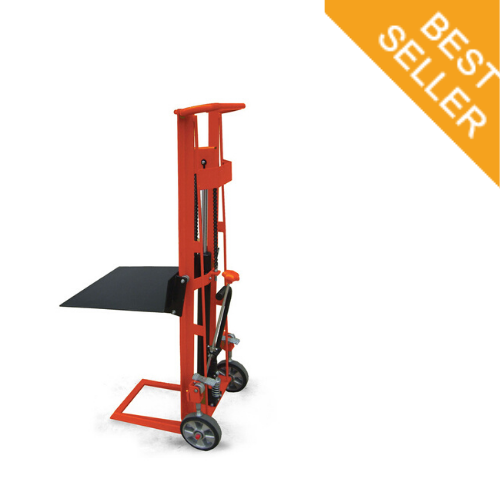 Standard Hydraulic Hand Stacker Lifter with Steel  Platform 340kg | QualityJack