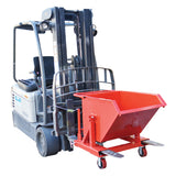 Light Weight Forklift Waste Tipping Bin Capacity 150L | QualityJack