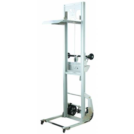 Aluminium Mini Hand Stacker Lifting 1500mm Capacity 90Kg | QualityJack