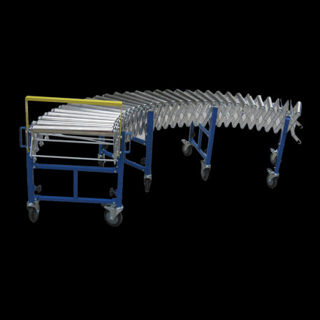 Heavy Duty Steel Wheel Expandable Conveyor | QualityJack