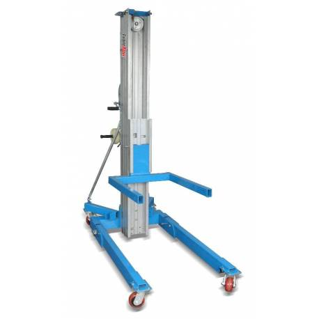 Aluminium Manual Aerial Work Platform Trolley Duct Lifter Capacity 350Kg | QualityJack