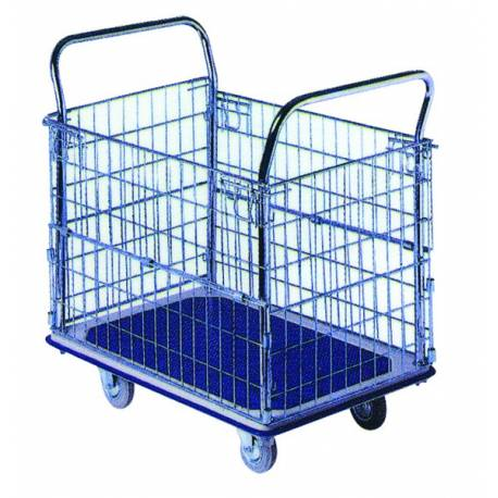 Fully Wired Cage Stock Order Picking Trolley | QualityJack