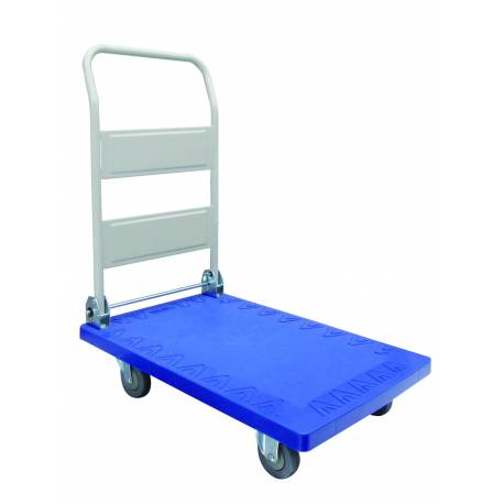 Foldable Plastic Deck Industrial Platform Trolley 200Kg | QualityJack