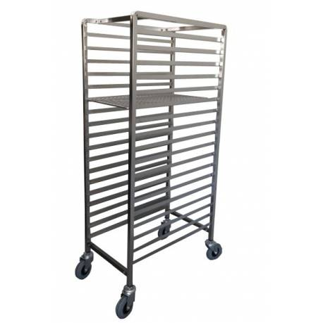 Heavy Duty Stainless Steel  Pastry Cake Tray Trolley with Tray & Wheel Locks | QualityJack