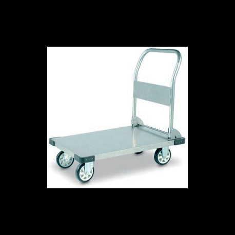 Foldable Stainless Steel FlatBed Industrial Platform Trolley 350Kg | QualityJack