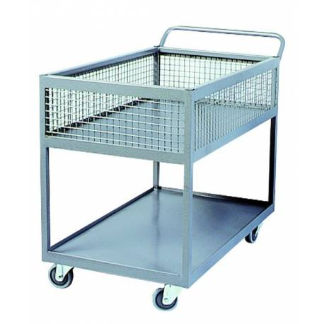 Stock Oder Picking Half Basket Trolley | QualityJack