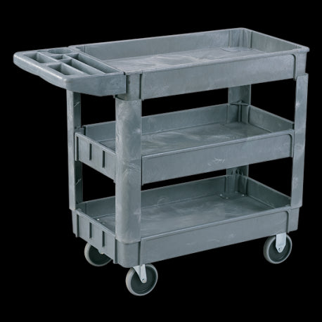 Three Tier Heavy Duty Plastic Stock Picking Trolley | SkyJacks