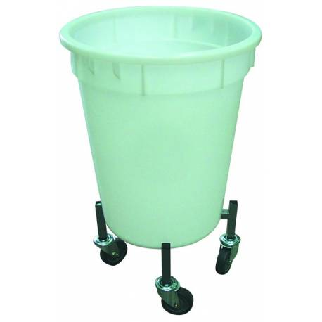 Circular Bin Tub with Dollie | QualityJack
