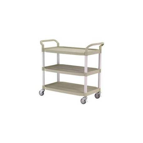 Three Tier Service Trolley Cart Capacity 250Kg 850*480mm | QualityJack