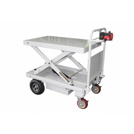 Fully Powered Industrial Trolley Cart with Electric Lift 500Kg | QualityJack