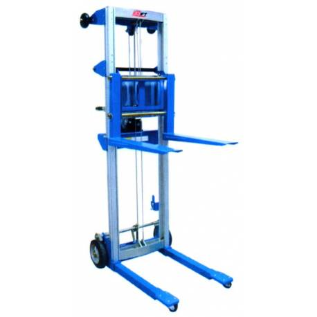 181 Kg Aluminum Hand Stacker Winch Lifter | QualityJack