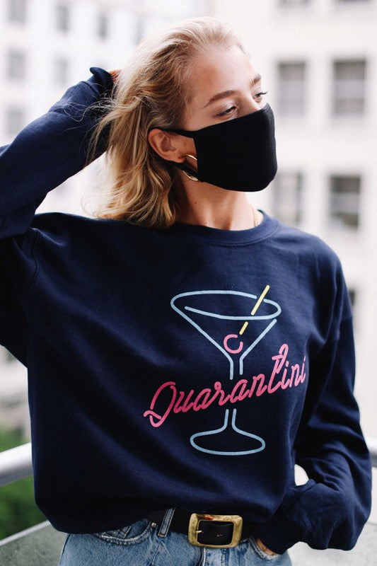 Quarantini Crew Neck Sweatshirt