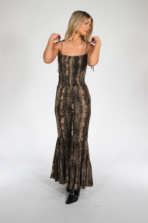 Into the Wild Snakeskin Jumpsuit