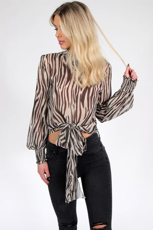 Take it Easy Animal Print Blouse