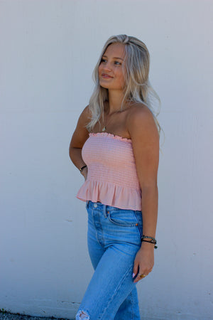 Bailey Smocked Tube Top PINK
