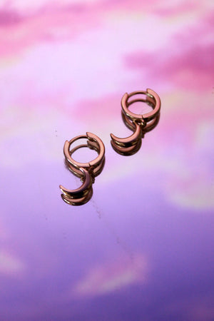 Crescent Moon Huggie Earrings