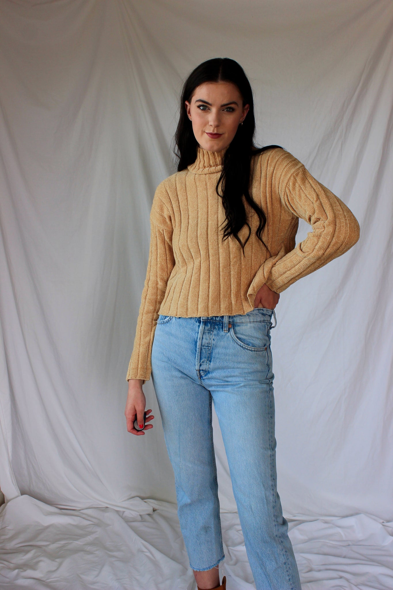 Sweet Like Honey Turtleneck Sweater
