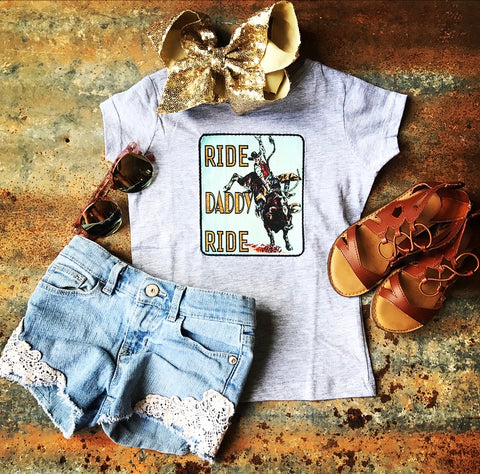 RIDE Daddy RIDE Bull Rider Fitted Girl's Shirt