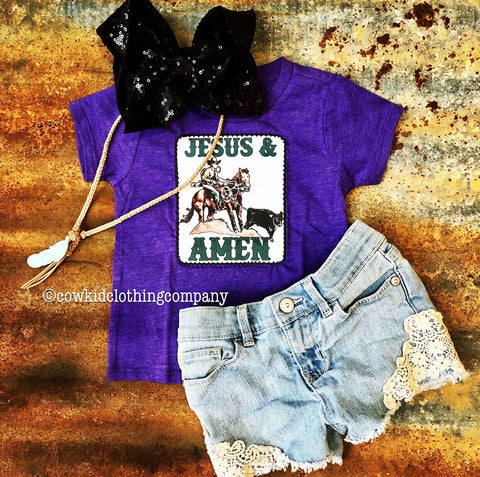 Jesus & Calf Roping AMEN Shirt