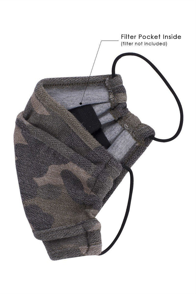 Camouflage 3d Reusable Face Mask
