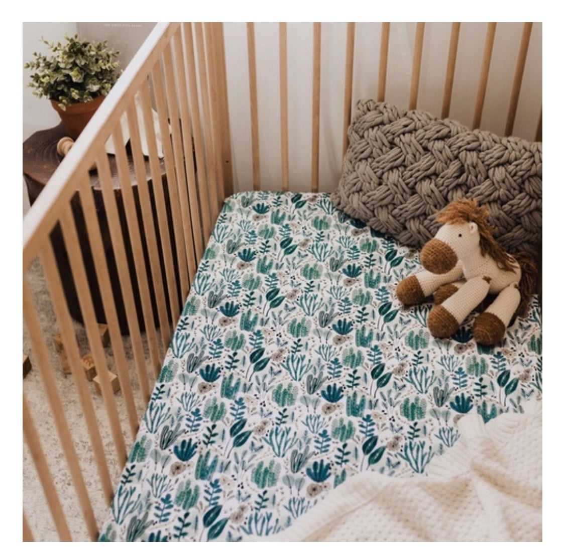 Snuggle Hunny Jersey Cot Sheets - Arizona