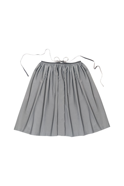 Grey Gathered Skirt