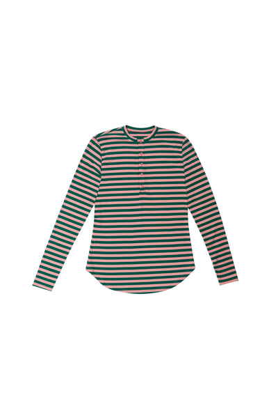Pink Green Striped Tshirt