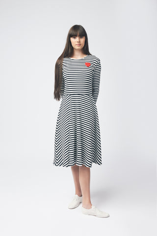 Striped Dress With Hurt