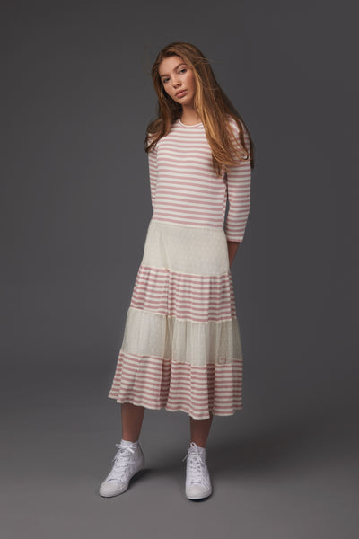 Striped Tull Dress