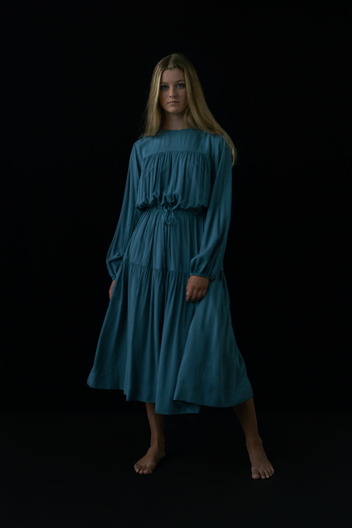 Peasant Blue Dress