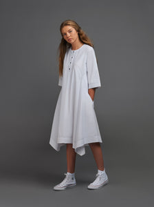 White Dress With Black Stitching