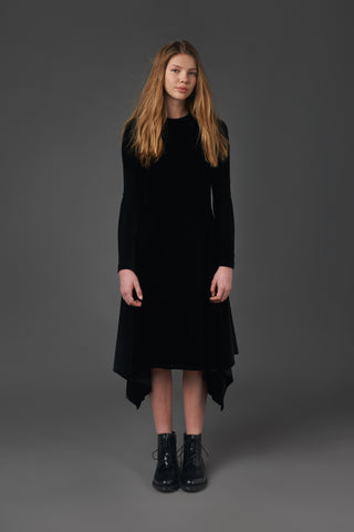 Velvet Kerchief Dress