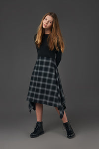 Plaid Kerchief Dress