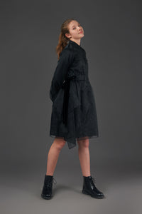Organza Shirt Dress