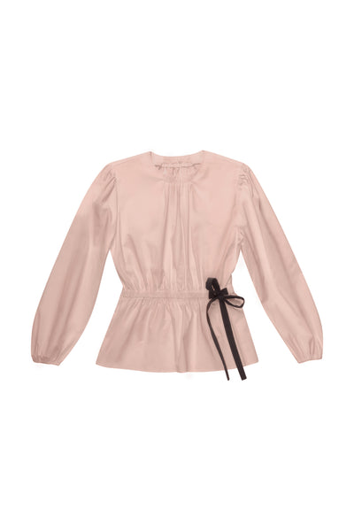 Pink Blouse with a Bow