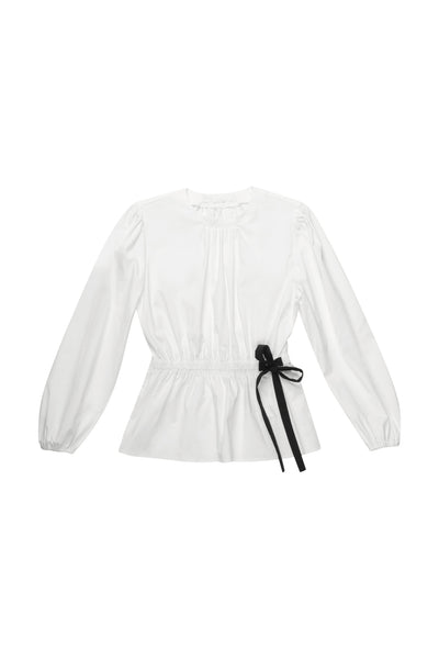 White Blouse with a Bow