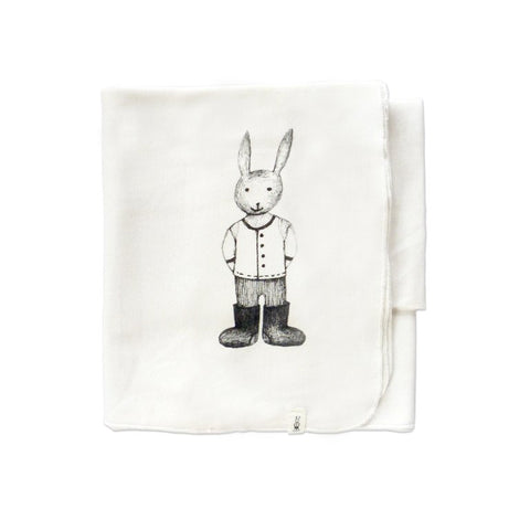 White Blanket With Bunny
