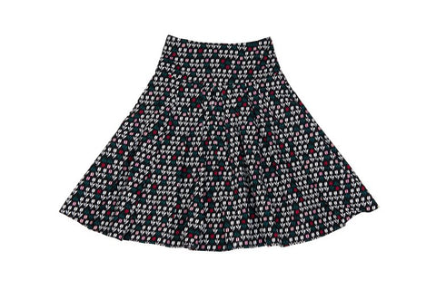 Tulip Black Pleated Skirt