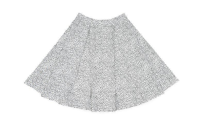 Seeds On White Pleated Skirt