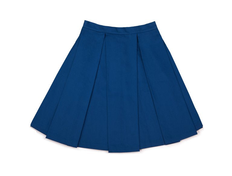 Blue Big Pleated Skirt