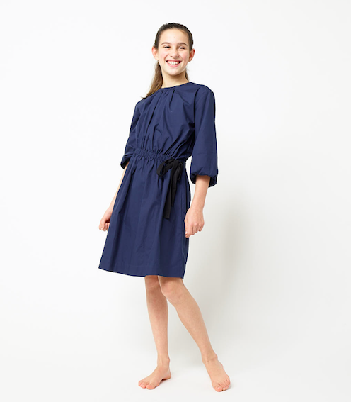 Navy Side Tie Dress