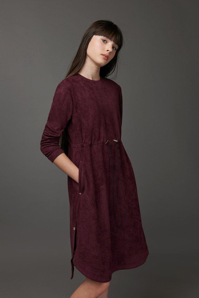Purple Suede Dress