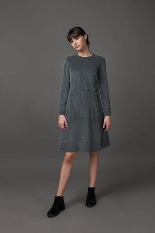 Velour Grey Stitch Dress