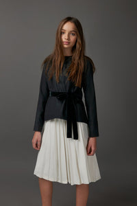 Ivory Pleated Skirt