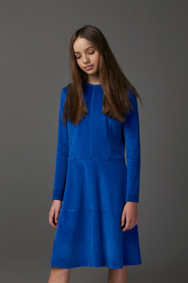 Blue Stitch Dress