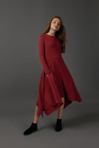 Burgundy Kerchief Dress